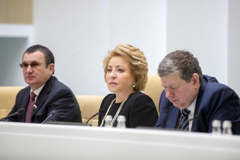 Николай Федоров, Валентина Матвиенко и Евгений Бушмин