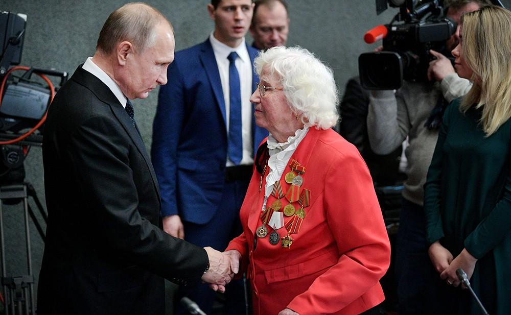 Владимир Путин и ветераны