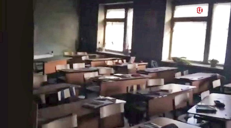 Пожар в школе в Бурятии