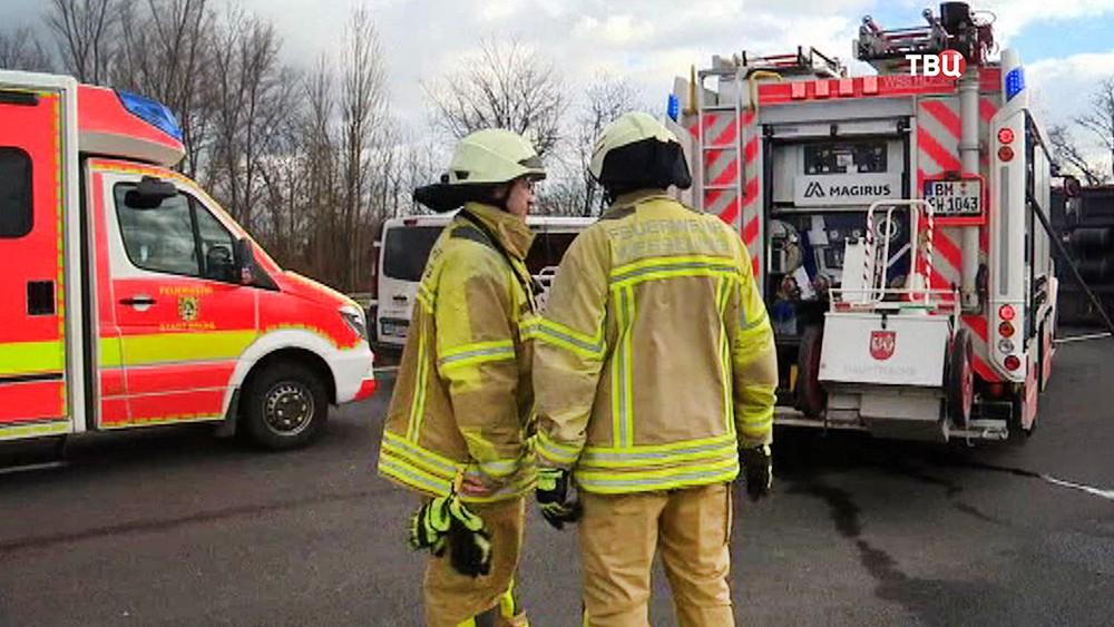 Спасатели Германии на месте происшествия