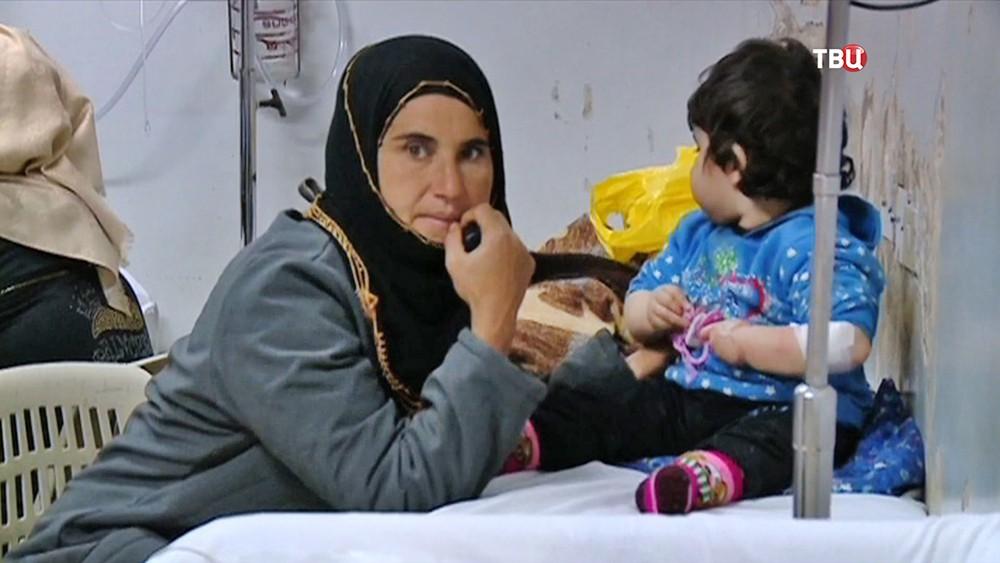 Жители Сирии в больнице