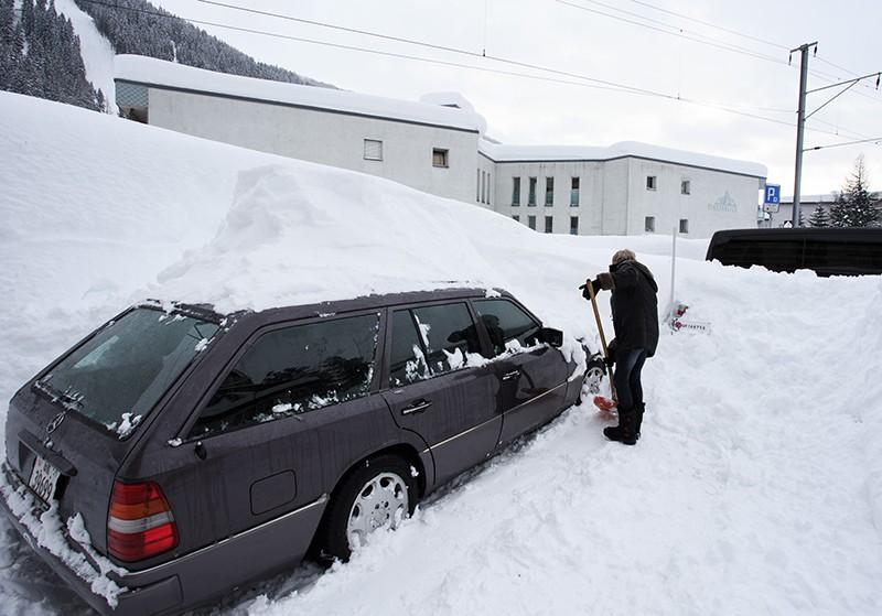 Снегопад в Давосе
