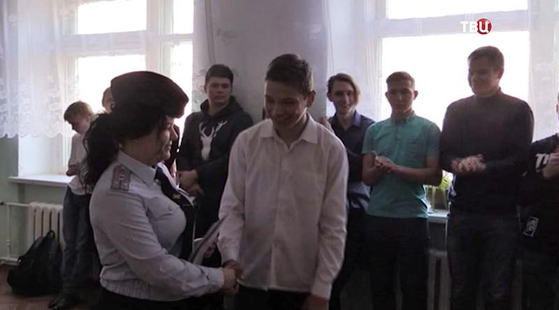 Награждение Стаса Горбачева