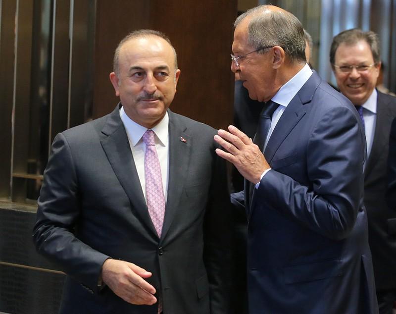 Глава МИД России Сергей Лавров и глава МИД Турции Мевлют Чавушоглу