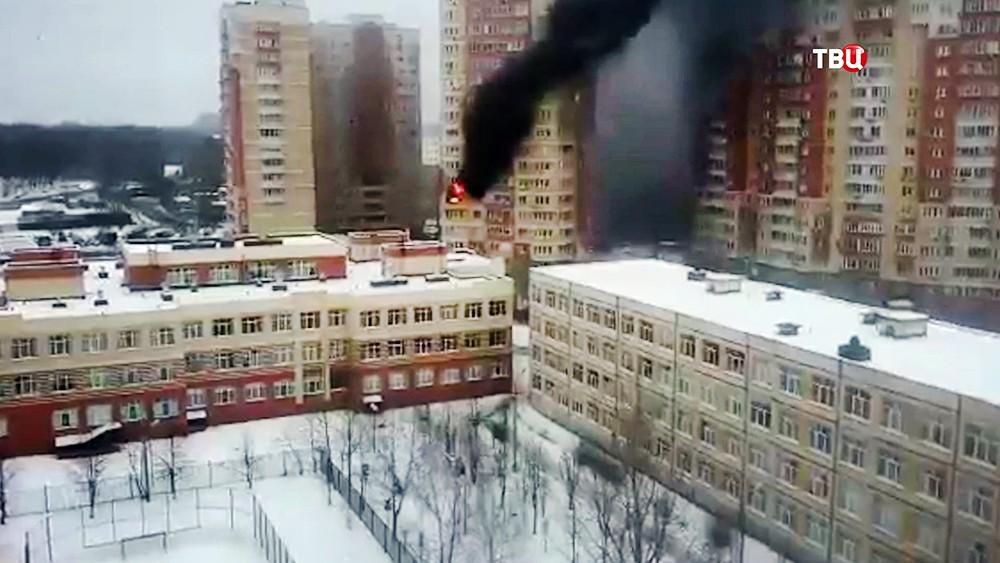 Пожар в многоэтажном доме