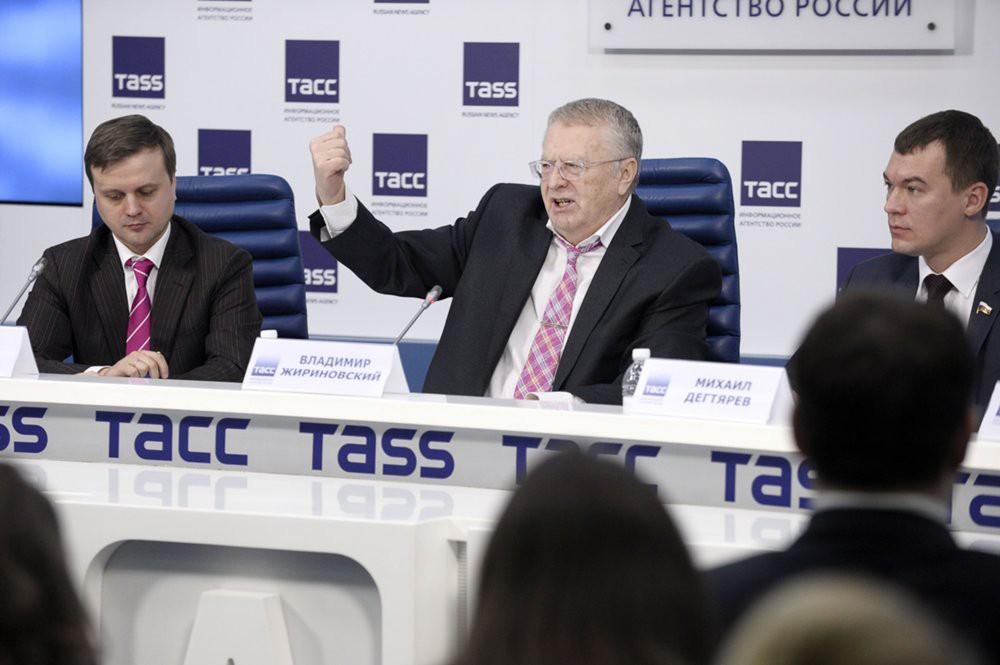 Пресс-конференция лидера партии ЛДПР Владимира Жириновского