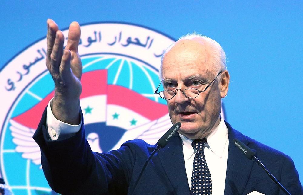 Стефан де Мистура на конгрессе нацдиалога Сирии в Сочи