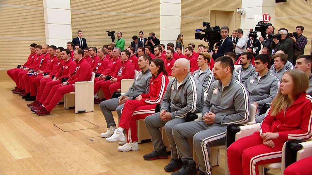 Члены олимпийской сборной России в Кремле