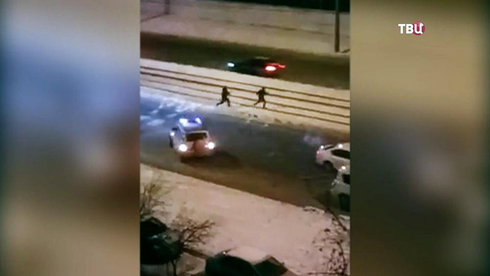Перестрелка с грабителями в Санкт-Петербурге