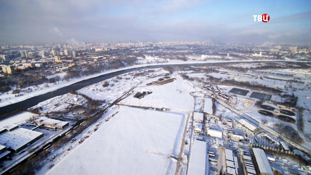 Территория нового парка в Печатниках