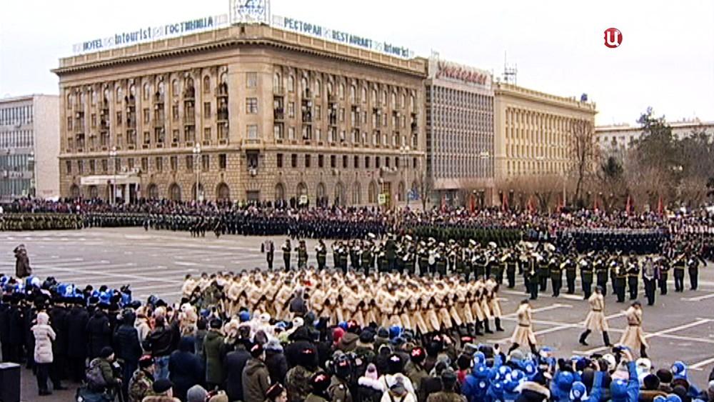 Парад в честь 75-летия победы в Сталинградской битве