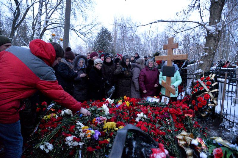 Похороны погибшего в Сирии летчика Романа Филипова