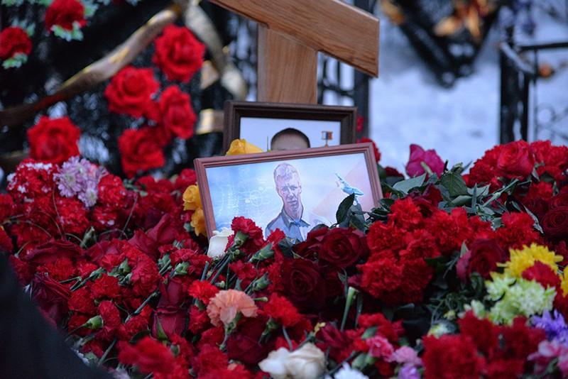 Церемония прощания с летчиком Романом Филиповым, погибшим в Сирии