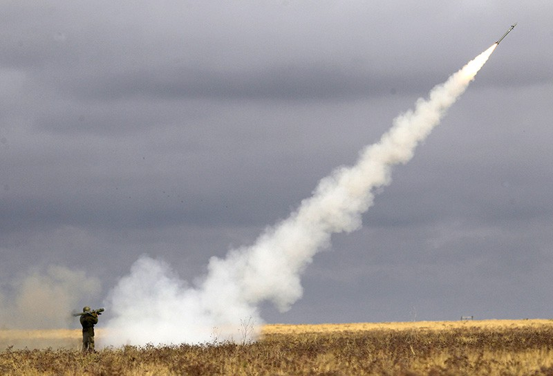 Запуск ракеты с ПЗРК