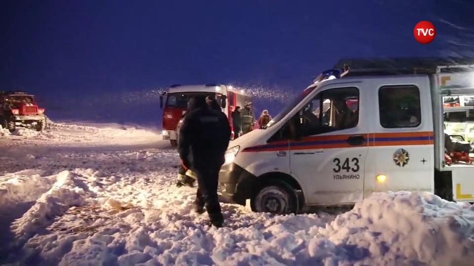 Спасатели на месте крушения Ан-148 в Подмосковье
