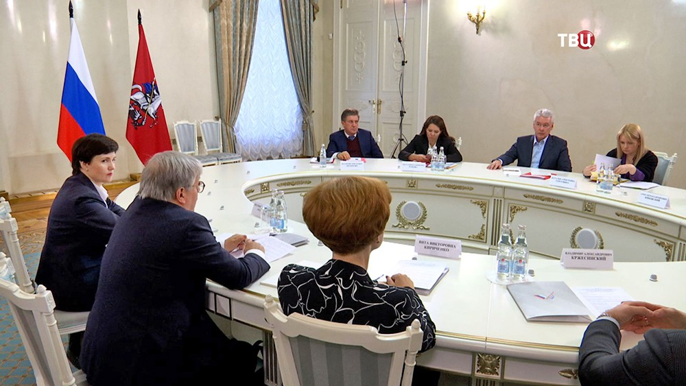 Сергей Собянин встретился с представителями столичного отделения ОНФ