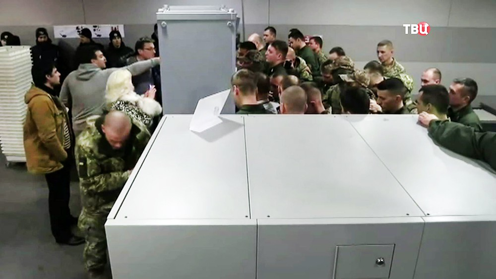 Сторонники Михаила Саакашвили на границе