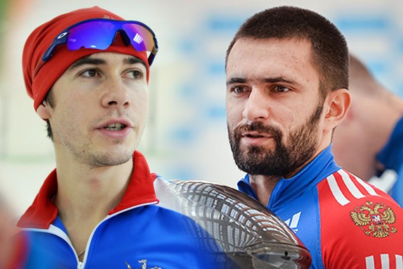 Конькобежец Сергей Грязцов и бобслеист Дмитрий Попов