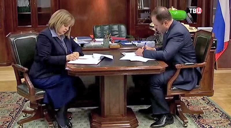 """Центризбирком и """"Роскосмос"""" заключают соглашение о сотрудничестве по вопросам информирования граждан о предстоящих выборах президента России"""