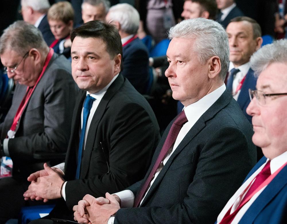 Сергей Собянин и Андрей Воробьев