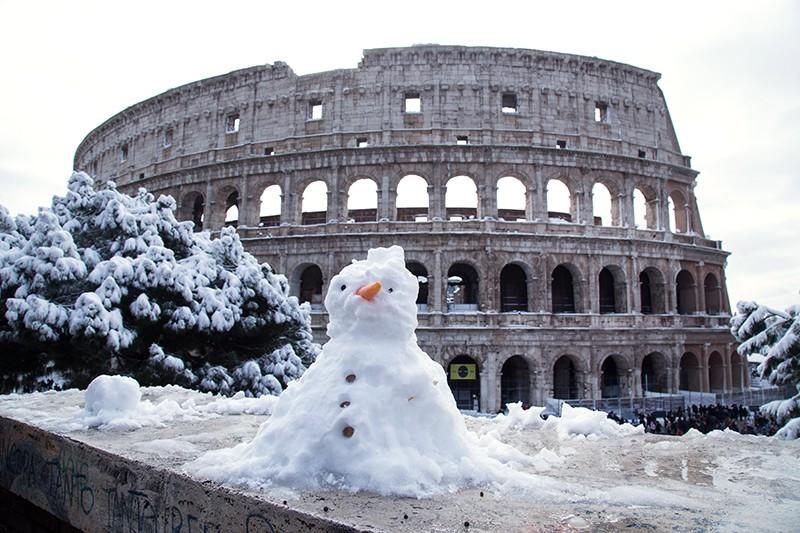 Снегопад в Риме
