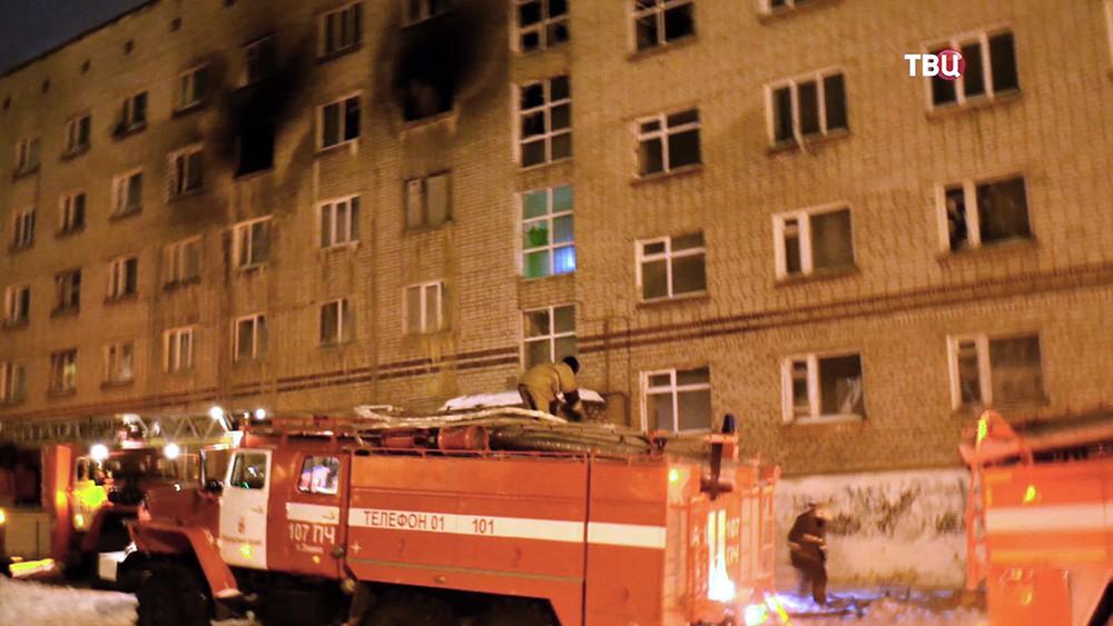 Последствия пожара в общежитии в Пермском крае