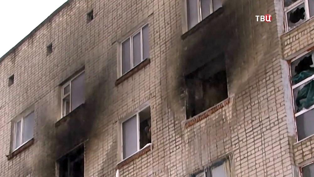 Последствия пожара в общежитии