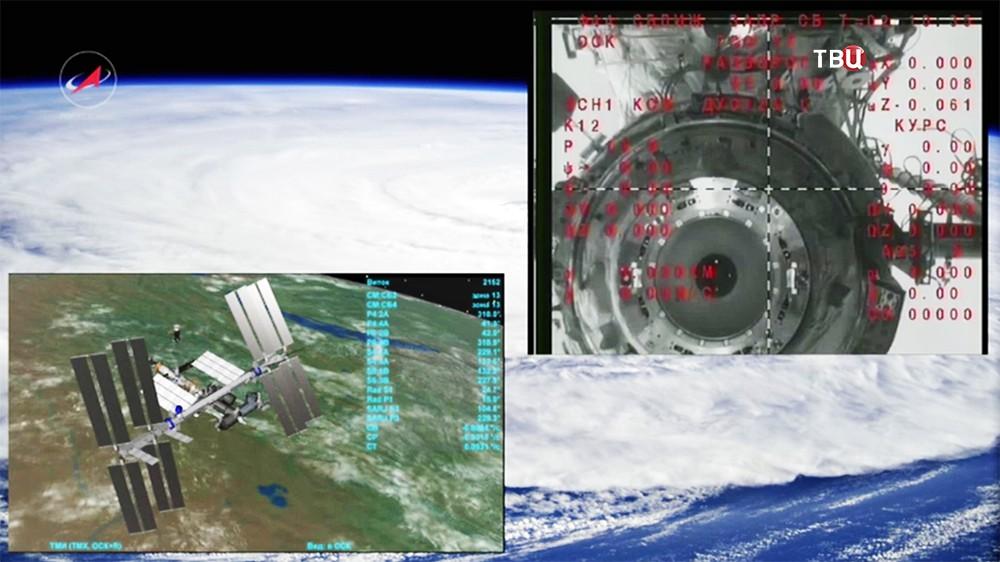 Отстыковка спускаемой капсулы от МКС