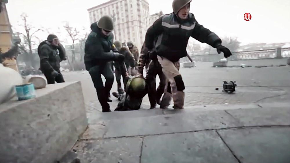 Раненые во время беспорядков на Майдане в 2014 году