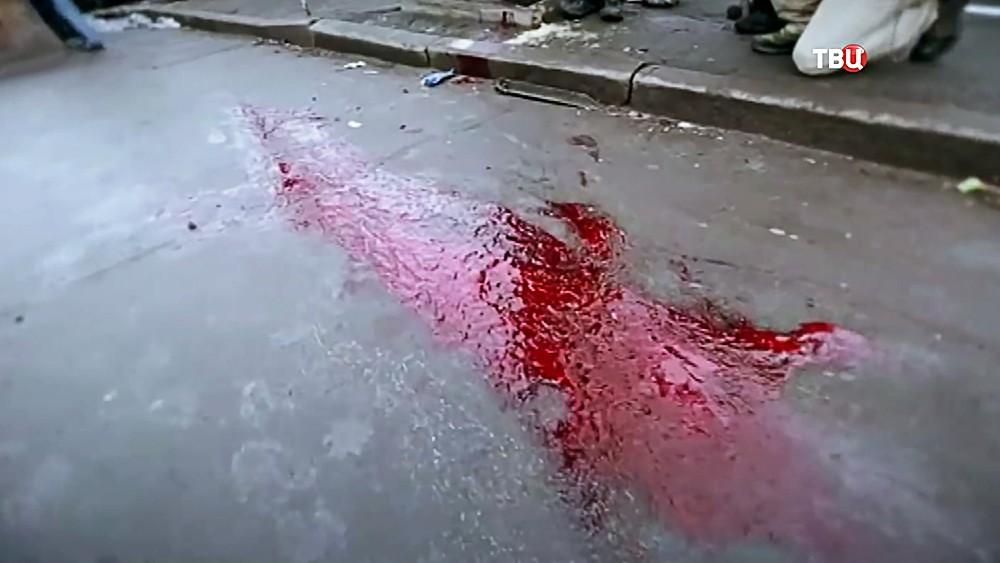 Последствия стрельбы во время беспорядков на Майдане в 2014 году
