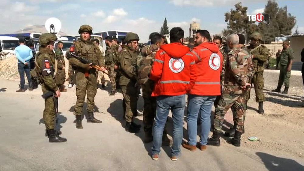 Военная полиция МР России и представители Красного полумесяца в Сирии