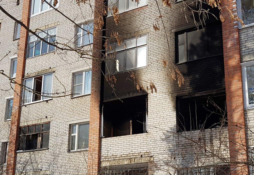 Последствия возгорания в жилом многоквартирном доме