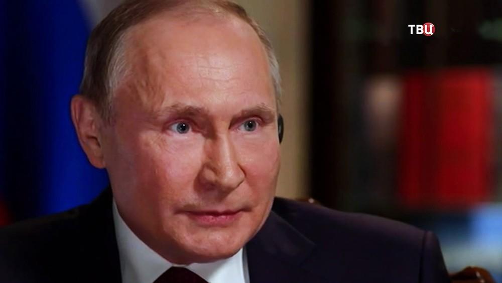 Владимир Путин даёт интервью иностранным СМИ