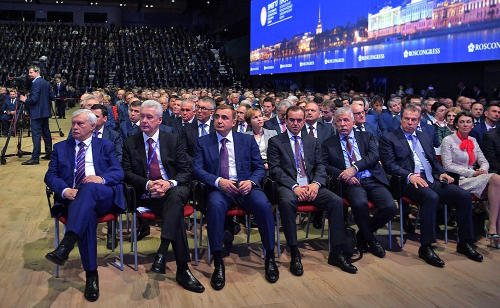 Участники Международного экономического форума в Санкт-Петербурге