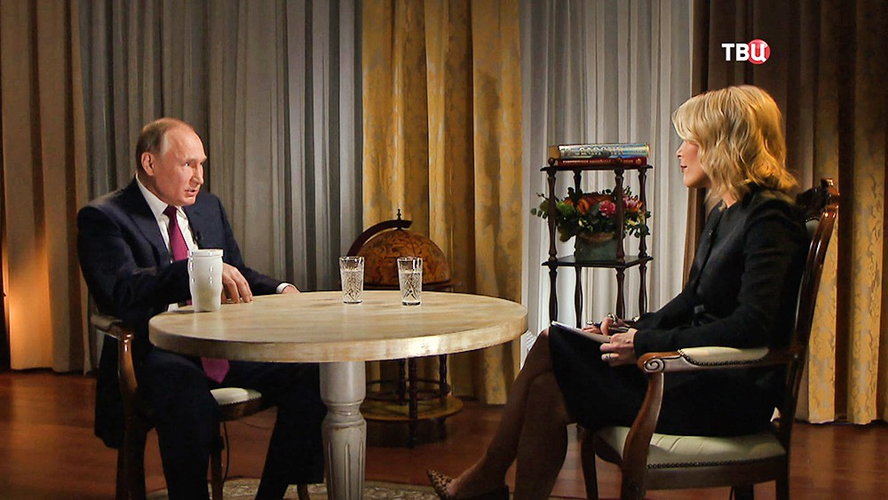 Владимир Путин даёт интервью телеканалу NBC