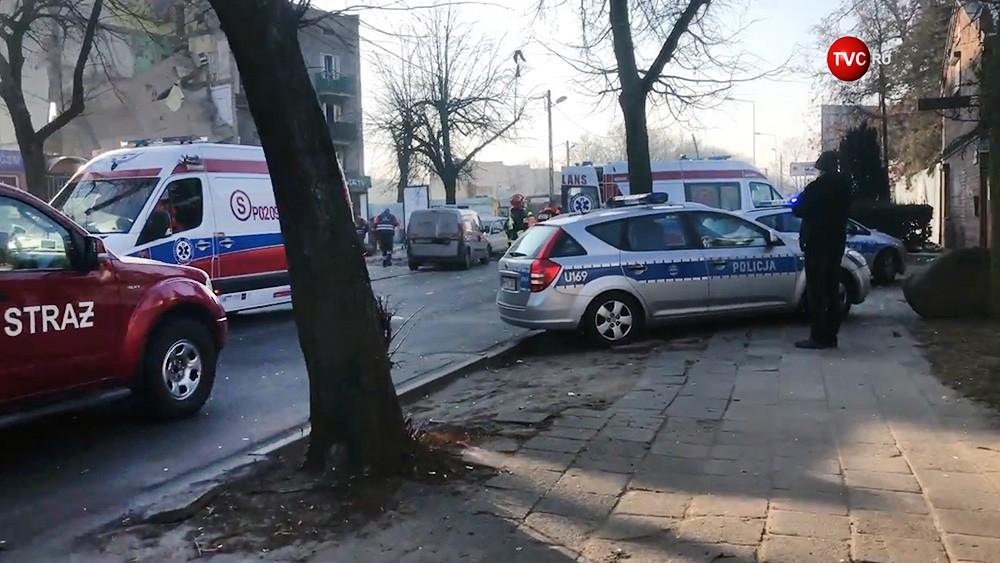 Экстренные службы Польши на месте происшествия