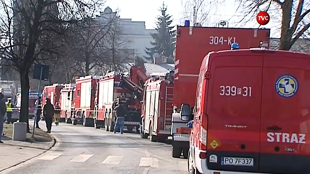 Спасатели Польши на месте происшествия
