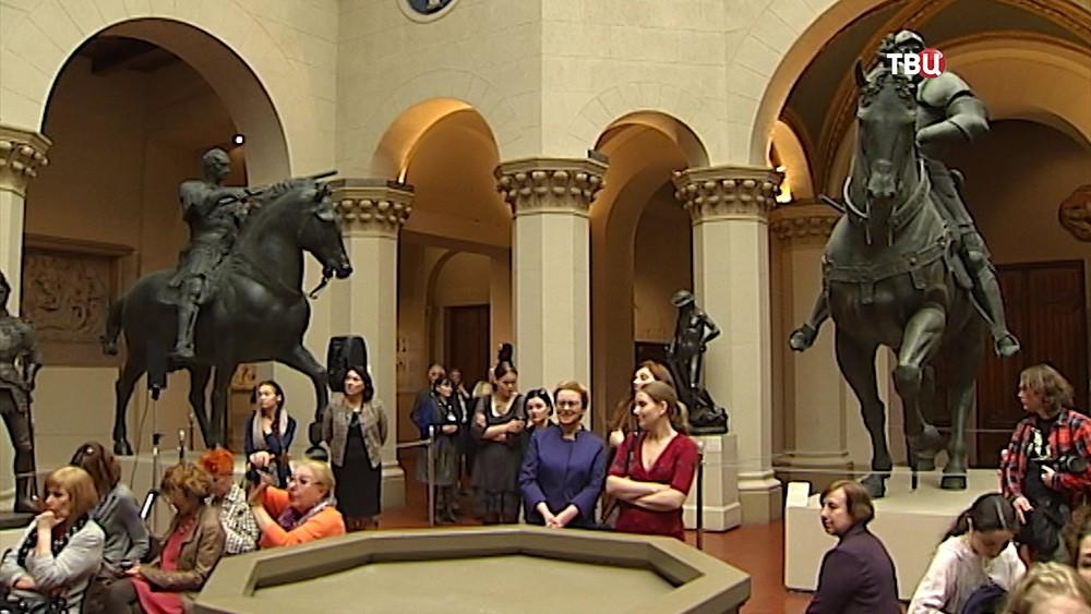 Посетители музея имени Пушкина