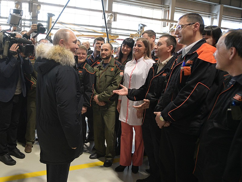 Рабочая поездка Владимира Путина в Свердловскую область
