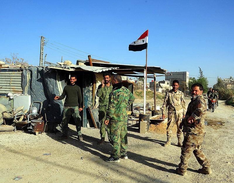 Блокпост сирийских войск в Восточной Гуте