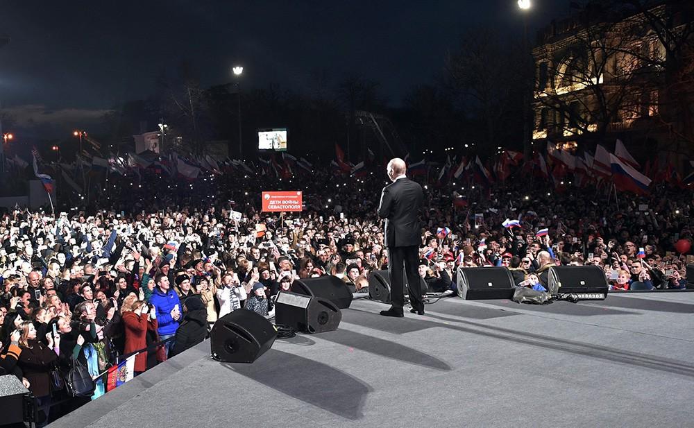 Владимир Путин на митинг-концерте в Севастополе