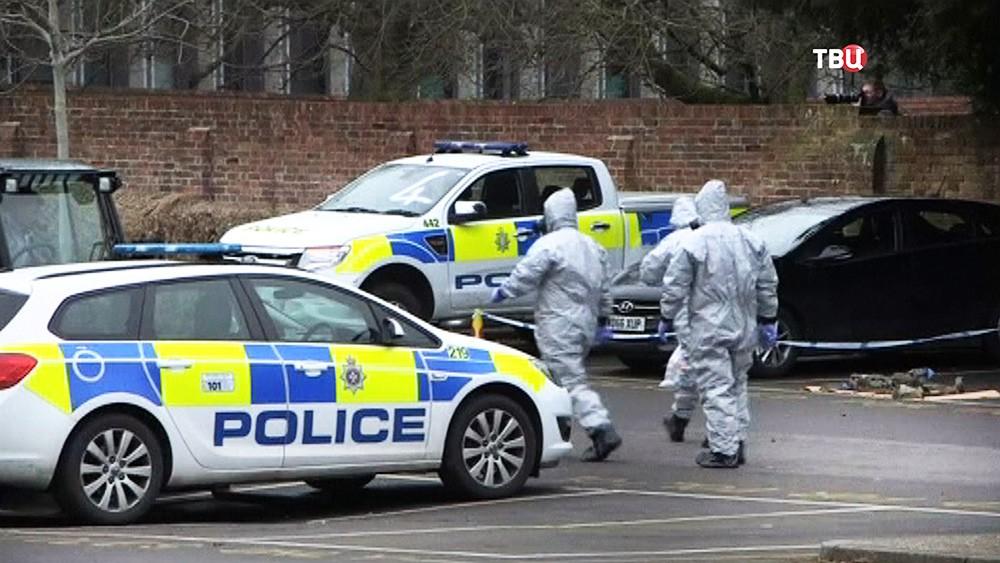 Полиция Великобритании на месте химического заражения