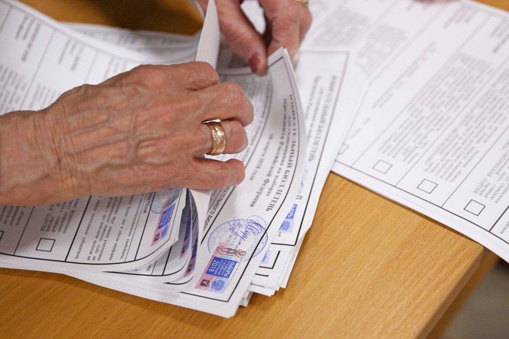 Подсчет голосов в избирательных участках на выборах