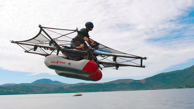 Kitty Hawk Flyer. Полностью электрический коптер