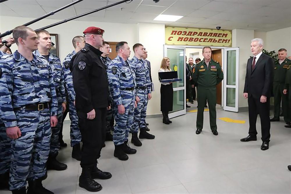 Мэр Москвы Сергей Собянин и глава Росгвардии Виктор Золотов