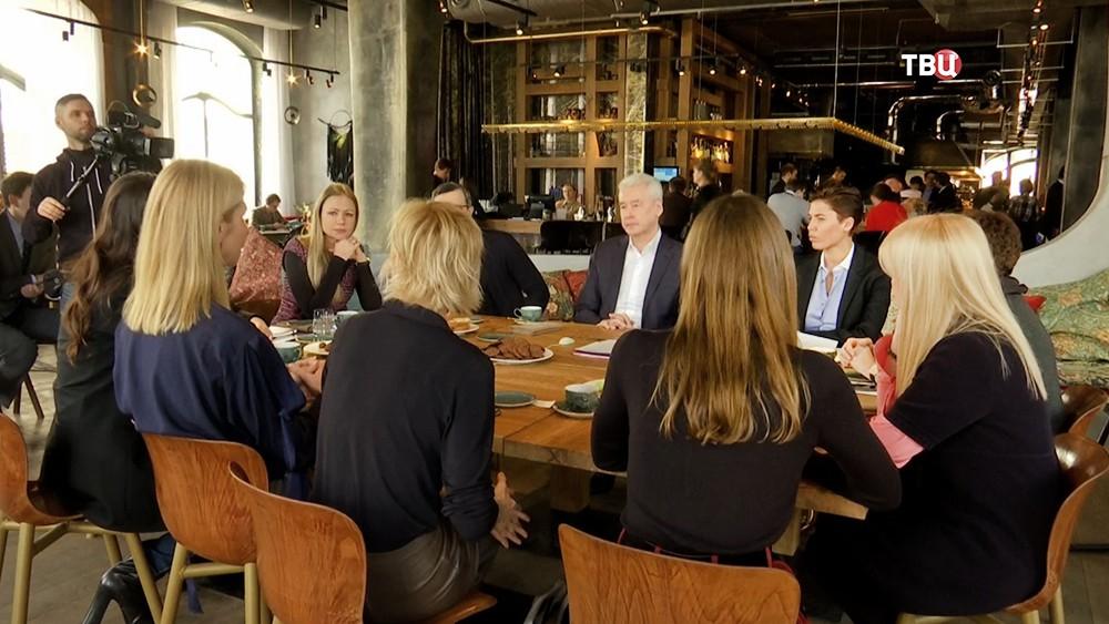 Сергей Собянин на встрече с представителями благотворительных фондов