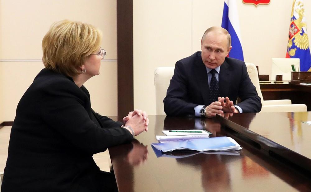 Вероника Скворцова и Владимир Путин