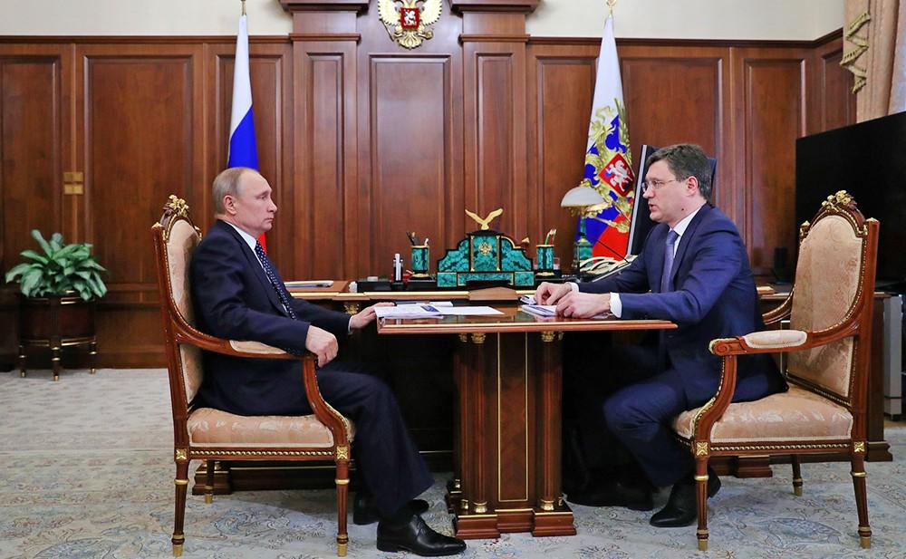 Владимир Путин и Александр Новак