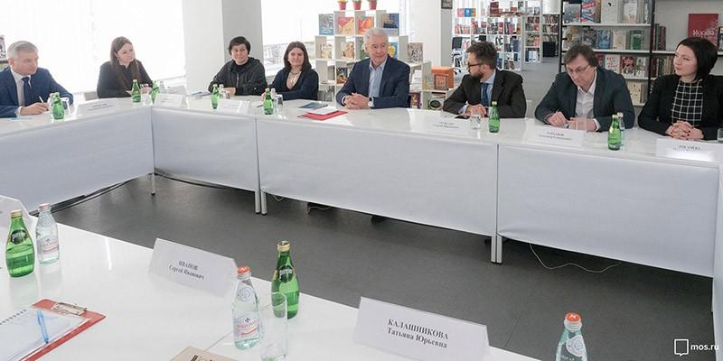 Сергей Собянин во время заседания развития библиотек