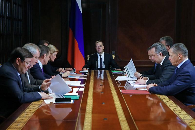 Дмитрий Медведев проводит совещание с вице-премьерами